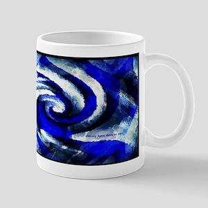Mod Blue Swirl Mug