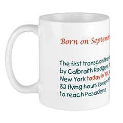 Mug: First transcontinental flight (Rodgers) took
