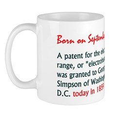 Mug: A patent for the electric range, or