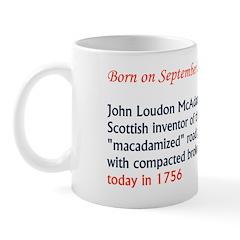 Mug: John Loudon McAdam, Scottish inventor of the