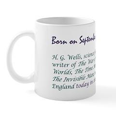 Mug: H. G. Wells, science fiction writer of The Wa