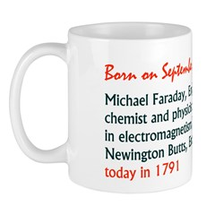 Mug: Michael Faraday, English chemist and physicis