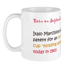 Mug: Italo Marchiony filed for a patent for an ice