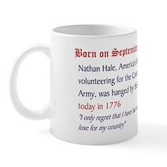Mug: Nathan Hale, America's first spy volunteering