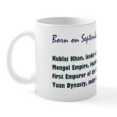 Mug: Kublai Khan, leader of the Mongol Empire, fou