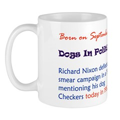 Mug: Dogs In Politics Day Richard Nixon deflected