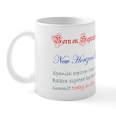 Mug: New Horizons Day Spanish explorer Vasco Núñez