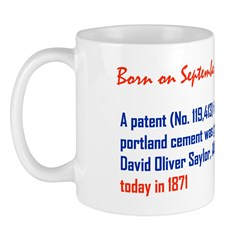 Mug: A patent (No. 119,413) for making portland ce