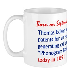 Mug: Thomas Edison was issued patents for an elect