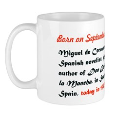 Mug: Miguel de Cervantes, Spanish novelist, playwr