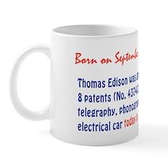 Mug: Thomas Edison was granted 8 patents (No. 4374