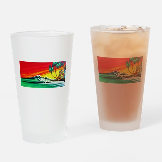 Touch of Paradise Drinking Glass
