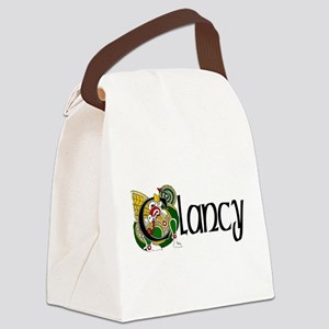 Clancy Celtic Dragon Canvas Lunch Bag