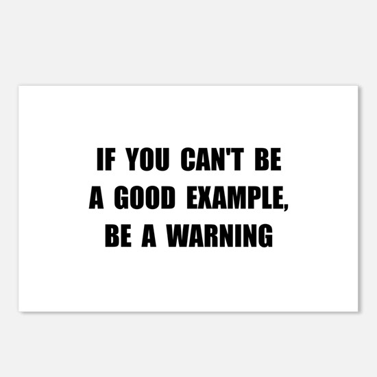 Good Example Warning Postcards (Package of 8)
