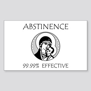 Abstinence Effective Sticker (Rectangle 10 pk)