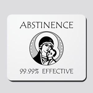 Abstinence Effective Mousepad