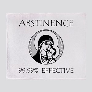 Abstinence Effective Throw Blanket