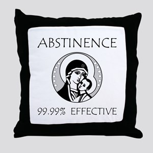 Abstinence Effective Throw Pillow