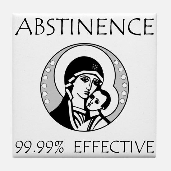 Abstinence Effective Tile Coaster