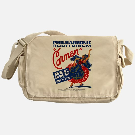 Vintage Carmen Opera Messenger Bag