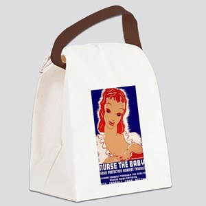Nurse the Baby Canvas Lunch Bag