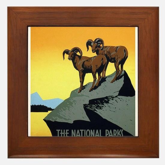 National Parks: Preserve Wild Life Framed Tile