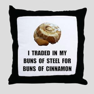 Buns Of Cinnamon Throw Pillow