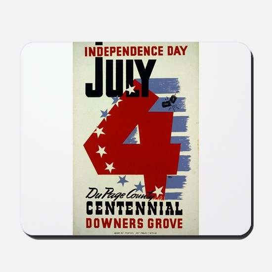 Vintage Fourth of July Mousepad