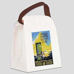 Death Valley: Vintage Parks Canvas Lunch Bag