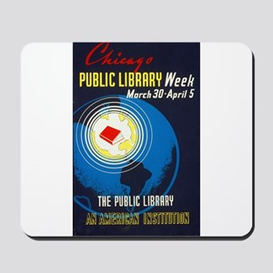 Public Library: An American Institution Mousepad
