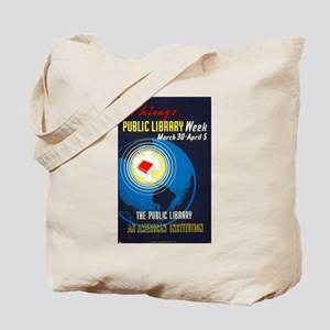 Public Library: An American Institution Tote Bag
