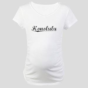 Honolulu, Vintage Maternity T-Shirt
