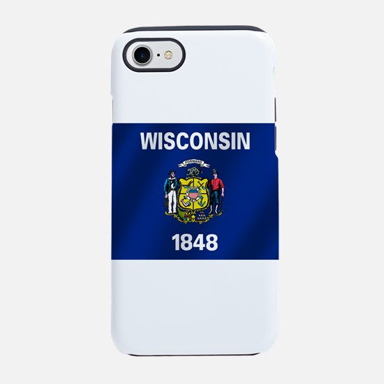 Wisconsin State Flag iPhone 7 Tough Case