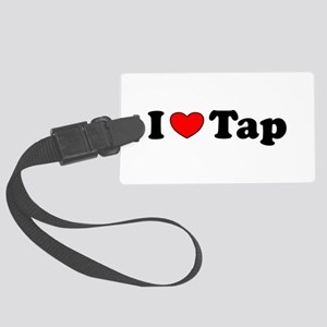 I Heart Tap Large Luggage Tag