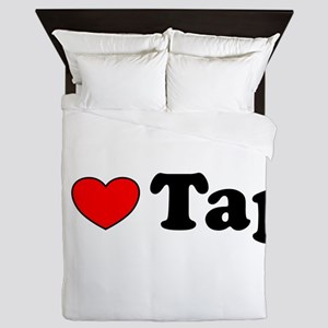 I Heart Tap Queen Duvet
