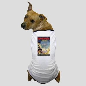 Vintage Frankenstein Horror Movie Dog T-Shirt