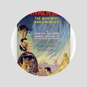 """Vintage Frankenstein Horror Movie 3.5"""" Button"""