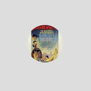 Vintage Frankenstein Horror Movie Mini Button