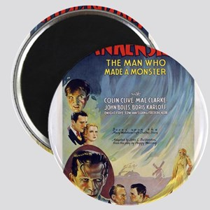 Vintage Frankenstein Horror Movie Magnet