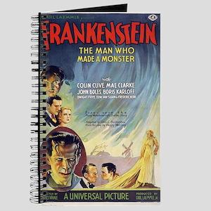 Vintage Frankenstein Horror Movie Journal