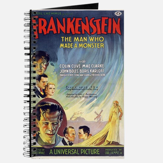 Vintage Frankenstein Horror Movie Journal