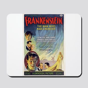 Vintage Frankenstein Horror Movie Mousepad