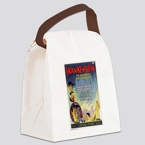 Vintage Frankenstein Horror Movie Canvas Lunch Bag