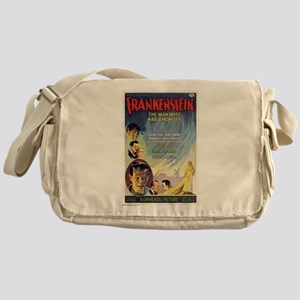 Vintage Frankenstein Horror Movie Messenger Bag