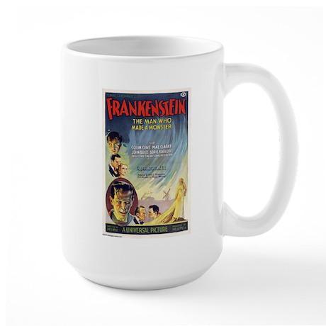 Vintage Frankenstein Horror Movie Large Mug