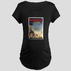 Vintage Frankenstein Horror Movie Maternity Dark T