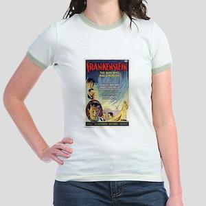 Vintage Frankenstein Horror Movie Jr. Ringer T-Shi