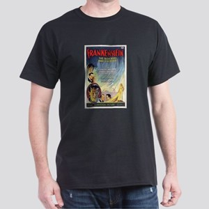 Vintage Frankenstein Horror Movie Dark T-Shirt