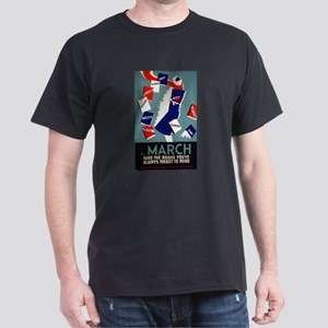 Vintage March is for Reading Dark T-Shirt