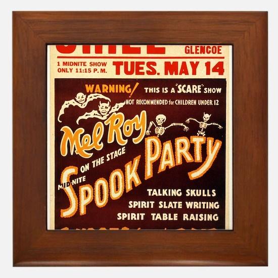 Vintage Halloween Party Framed Tile